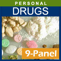 Alcohol and Drug Testing Services 9 Panel Hair Drug Testing for 1 segment - Personal Purposes