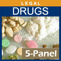 Alcohol and Drug Testing Services 5 Panel Hair Drug Testing for 1 segment - Legal Purposes