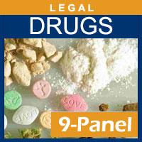 Alcohol and Drug Testing Services 9 Panel Hair Drug Testing for 1 segment - Legal Purposes