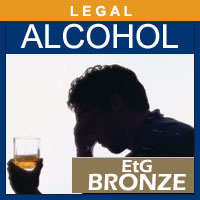 Alcohol and Drug Testing Services EtG Hair Alcohol Test (Bronze) - Legal Purposes