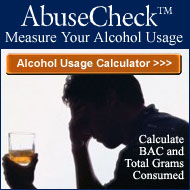 AbuseCheck Alcohol Usage Consumption Calculator for BAC and Grams